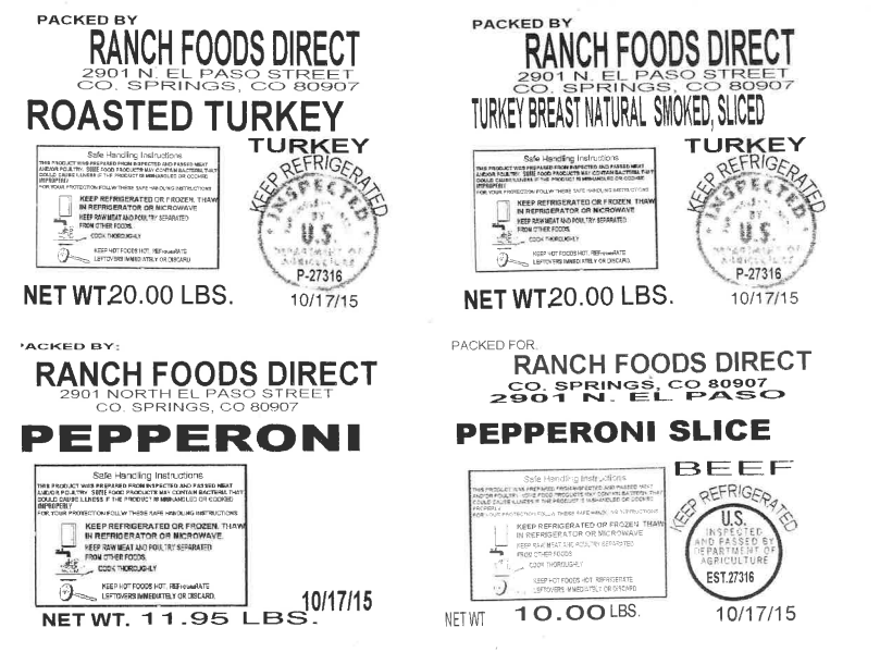 Rocky Mountain Food Report, Ranch Foods Direct, recall, Colorado Springs
