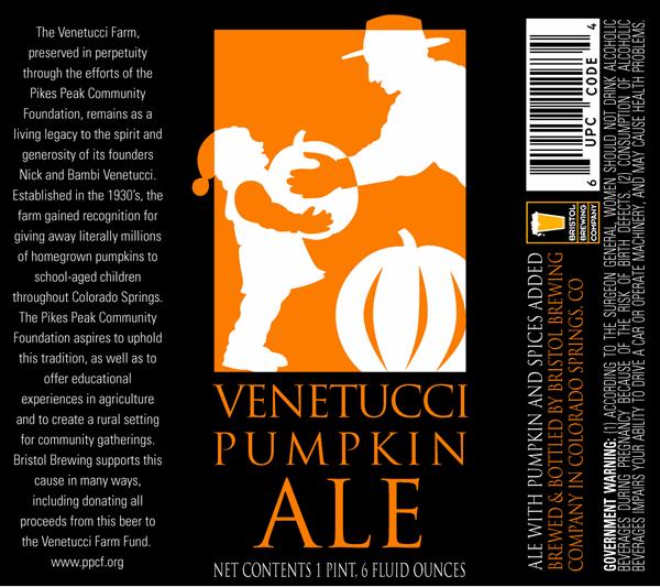 Colorado Springs, Venetucci Pumpkin Ale, Bristol Brewing Company