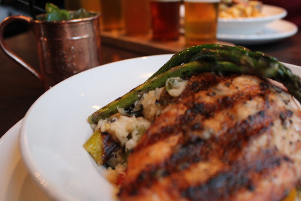 Grilled Salmon & Asparagus Rissoto