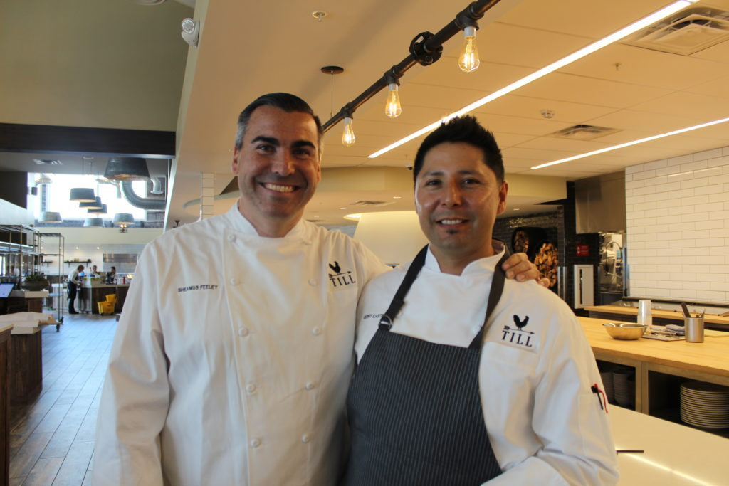 Chef Feeley and Chef Castro, formerly of Farmstead in Napa. I feel the love.